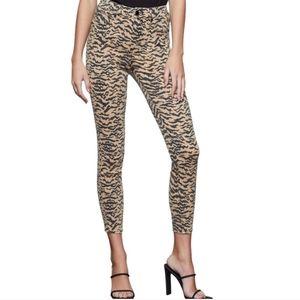 Good American   Good Waist Crop Tiger Print Jeans